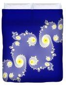Fractal Floral Pattern Duvet Cover