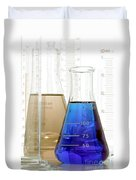 Laboratory Equipment In Science Research Lab Duvet Cover