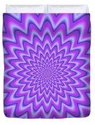 Psycho Hypno Floral Pattern Duvet Cover
