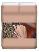 Braids/roatan People Duvet Cover