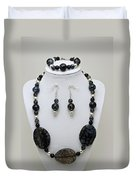3548 Cracked Agate Necklace Bracelet And Earrings Set Duvet Cover