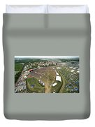 Bonnaroo Music Festival Aerial Photography Duvet Cover