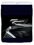 37 Cadillac Hood Angel Duvet Cover