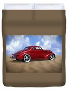 37 Chevy Coupe Duvet Cover