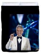 Andrea Bocelli In Concert Duvet Cover