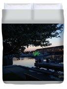 Racine Coastal Seascape - Michigan Lake In Wisconsin By Adam Asar Duvet Cover