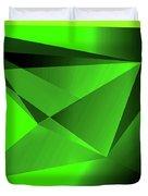 3d-greenpyramids Duvet Cover
