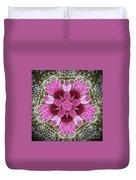 3d Pink Purple Mandala Painting Duvet Cover