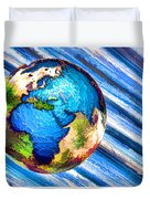 3d Render Of Planet Earth 10 Duvet Cover