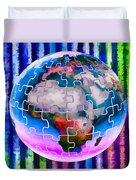 3d Render Of Planet Earth 12 Duvet Cover