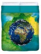 3d Render Of Planet Earth 14 Duvet Cover