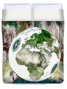 3d Render Of Planet Earth 7 Duvet Cover
