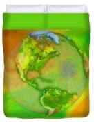 3d Render Of Planet Earth Duvet Cover