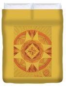3rd Mandala - Solar Plexus Chakra Duvet Cover