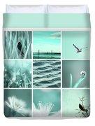 3x3 Aqua Blue Duvet Cover