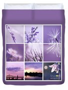3x3 Purple Duvet Cover