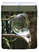 4-22-16--8699 Don't Drop The Crystal Ball, Crystal Ball Photography  Duvet Cover