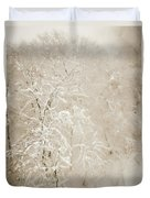 Abstract Scenes At Ski Resort During Snow Storm Duvet Cover