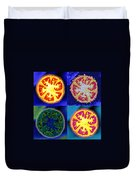 4 Abstract Tomatoes Duvet Cover