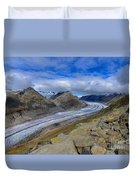 Aletsch Glacier, Switzerland Duvet Cover