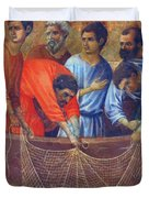 Appearance Of Christ To The Apostles Fragment 1311  Duvet Cover
