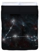 Artists Depiction Of The Constellation Duvet Cover