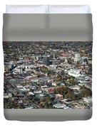 Asheville Aerial Photo Duvet Cover
