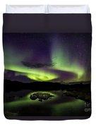 Aurora Borealis Over Iceland Duvet Cover