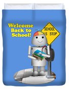 Back To School Little Robox9 Duvet Cover