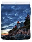 Bass Harbor Lighthouse Duvet Cover by John Greim
