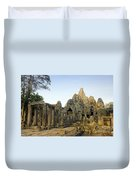 Bayon Temple Duvet Cover by MotHaiBaPhoto Prints