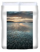 Beautiful Beach Coastal Low Tide Landscape Image At Sunrise With Duvet Cover
