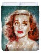 Bette Davis Vintage Hollywood Actress Duvet Cover