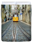 Bica Funicular, Lisbon, Portugal Duvet Cover