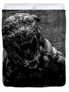 Black Panther Statue Duvet Cover