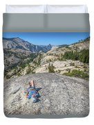 Break After Yosemite Hiking Duvet Cover