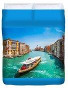 Canal Grande With Basilica Di Santa Maria Della Salute, Venice Duvet Cover