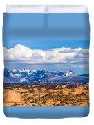 Canyon Badlands And Colorado Rockies Lanadscape Duvet Cover