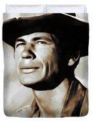 Charles Bronson, Actor Duvet Cover