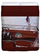 Chris Craft Runabout Duvet Cover