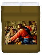Christ Cleansing The Temple Duvet Cover