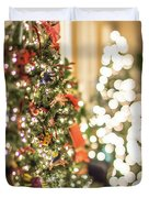 Christmas Tree And Decorations With Shallow Depth Of Field Duvet Cover
