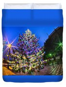 Christmas Tree Near Panther Stadium In Charlotte North Carolina Duvet Cover