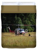 Climber Rescue Operation In Yosemite Duvet Cover