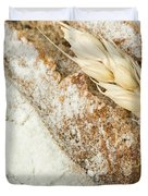 Close Up Bread And Wheat Cereal Crops Duvet Cover by Deyan Georgiev