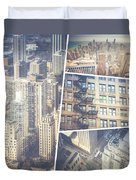 Collage Of Chicago  Duvet Cover