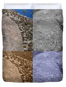 4 Crack Rocks New Mexico Duvet Cover