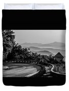 Early Morning Sunrise Over Blue Ridge Mountains Duvet Cover