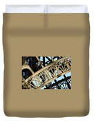 Eiffel Tower Detail Duvet Cover