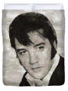Elvis Presley, Legend  Duvet Cover